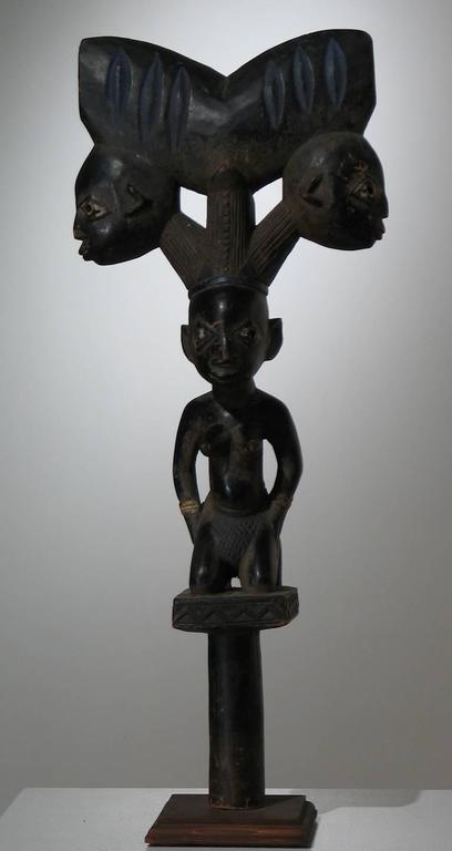Unknown Yoruba Shango Staff Sculpture For Sale At 1stdibs