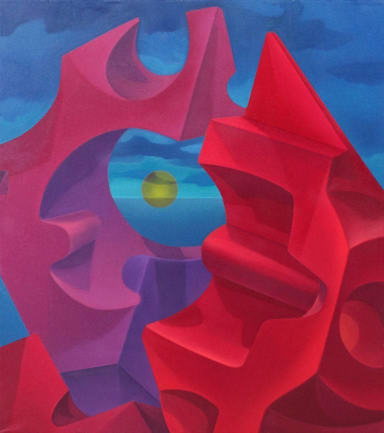 John Nativio Still-Life Painting - Atomic Cadmium Fission