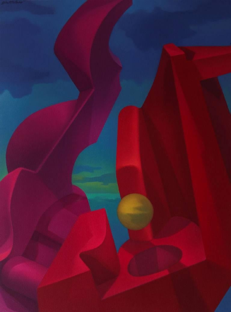 John Nativio Still-Life Painting - Anti-Gravity