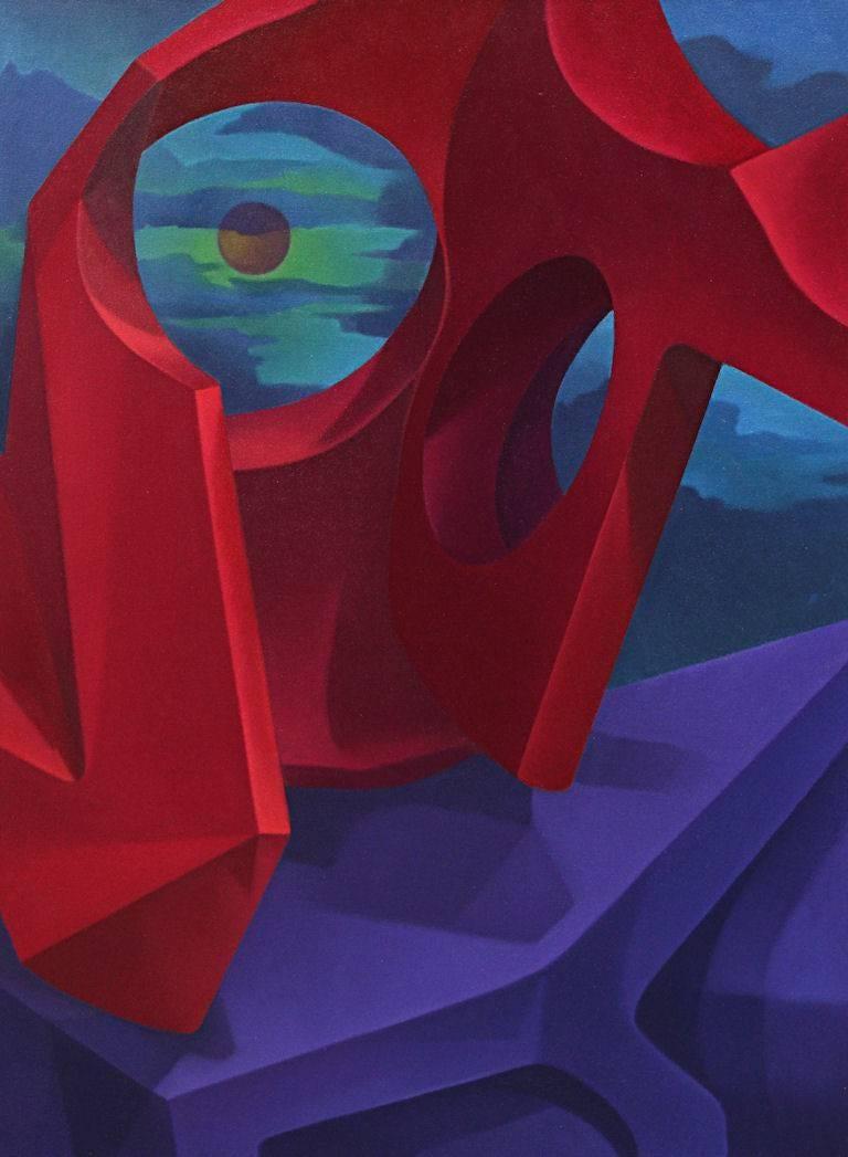 John Nativio Still-Life Painting - Crimson Domination