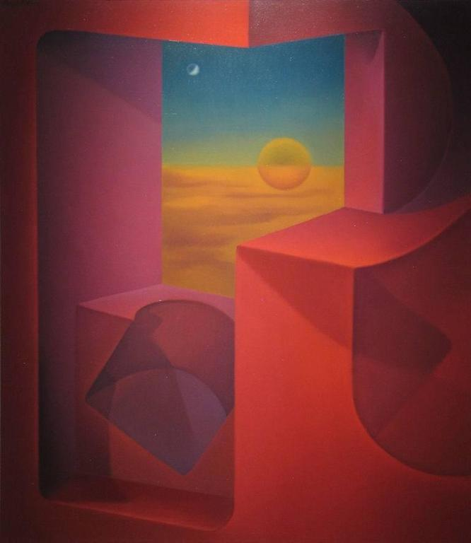 John R. Nativio Ethereal Conception Signed Upper-Left Oil on Canvas 53.75 x 47 inches