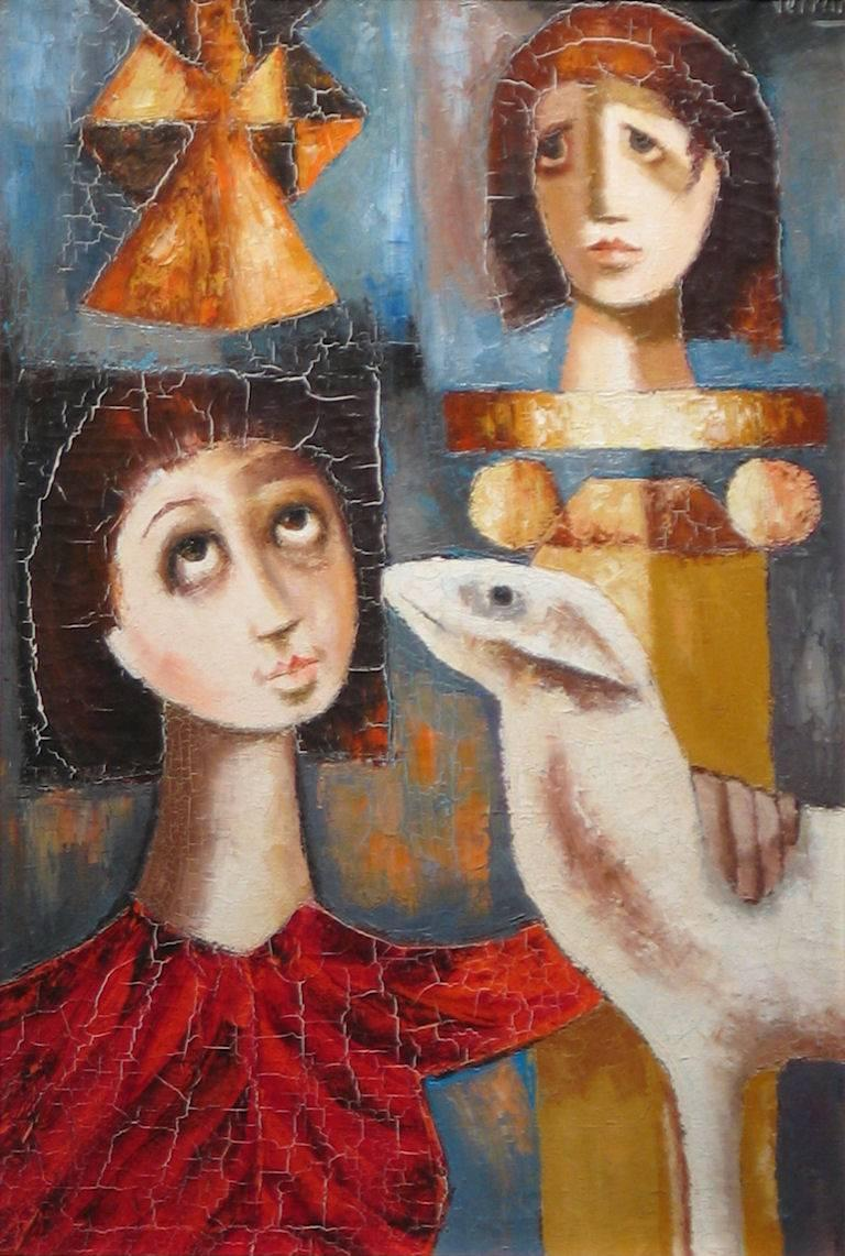 Unknown Figurative Painting - Modernist Painting