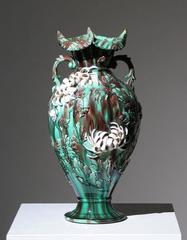 Japanese Kyoto Chrysanthemum Vase
