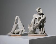 Cubist Split Figure