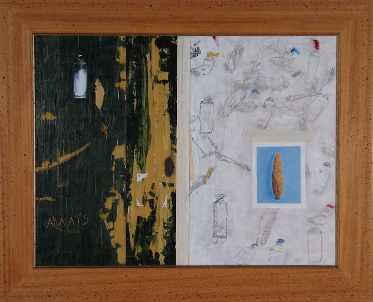 Gregory Lowell Smith Still-Life Painting - Trompe L'oeil Diptych