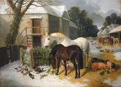 Barnyard with Horses
