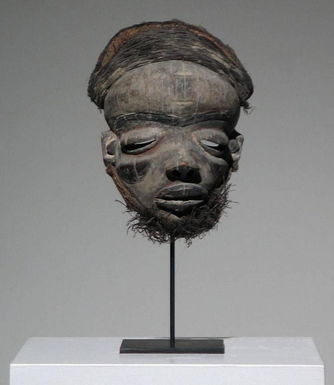 Unknown African Pende Mask Wood Sculpture At 1stdibs