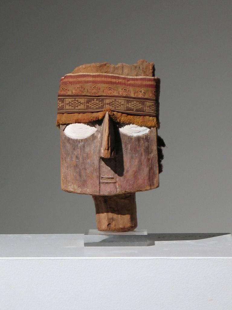 Unknown Figurative Sculpture - Chancay Mummy Mask
