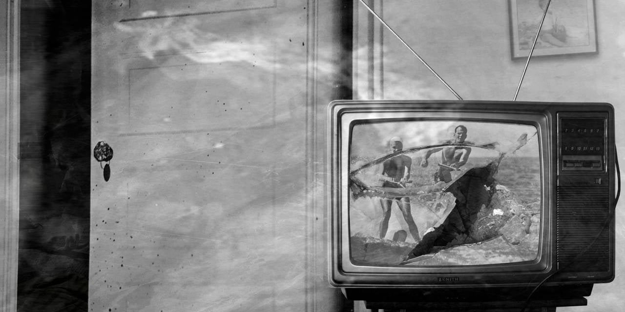 Preston Buchtel Black and White Photograph - Made for TV