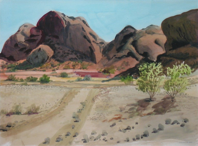 Lawrence Blazey Landscape Art - Mountains at Phoenix