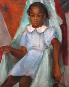Seated African-American Girl