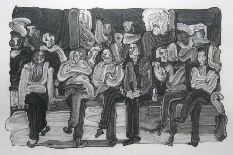 Jane Millican Abstract Drawing - Audience