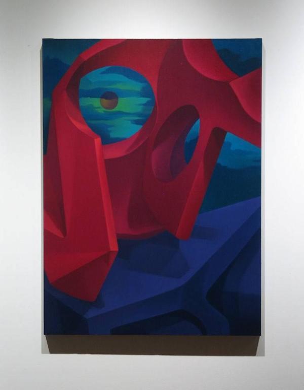 Crimson Domination - Painting by John Nativio