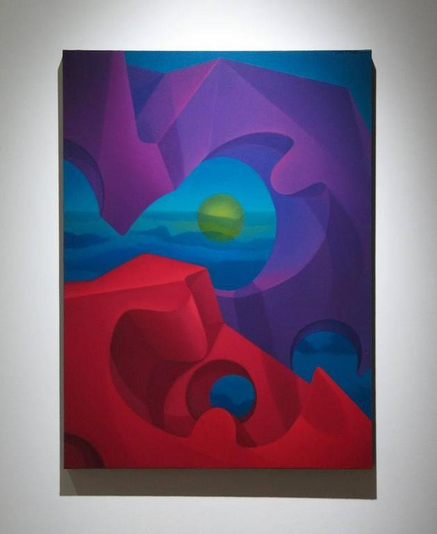 Polyphonic Alignment - Painting by John Nativio
