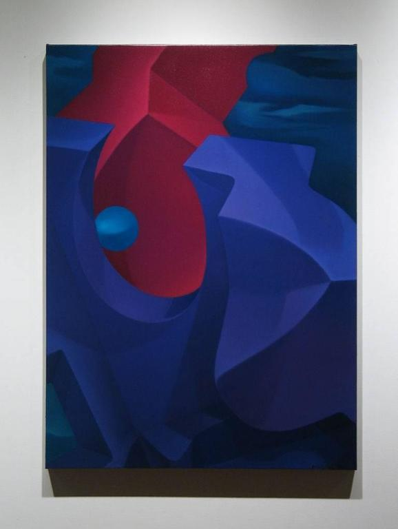 Divided Aperture - Painting by John Nativio