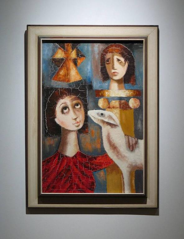 Modernist Painting - Brown Figurative Painting by Unknown