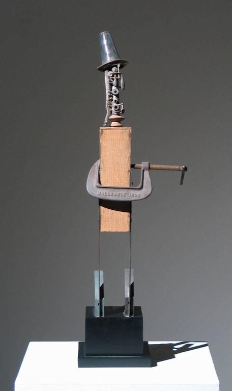 Adnan Charara Muse Found Art Sculpture 24 (28 inches with 4 inch base) x 8.5 x 5.5 inches