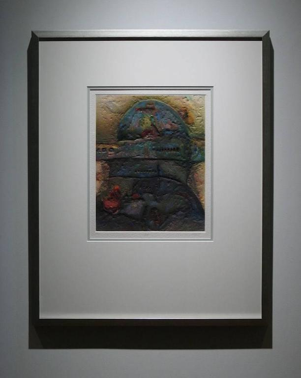 Antonio Jimenez [Madrid, Spain; 1945-2011] Babel 1998 12/99 Signed, Numbered, Titled & Dated Carborundum Print on Hand-Made, Embossed Paper 21 x 17 inches (framed: 41.5 x 33.5 inches)
