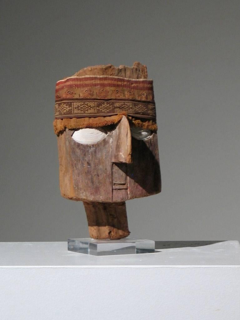 Chancay Mummy Mask - Sculpture by Unknown