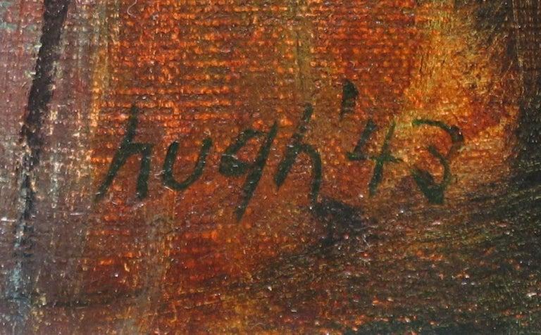 Autumn Harvest - Gray Still-Life Painting by Kenneth Marcus Hugh