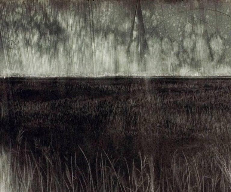 Battlefield - Black Landscape Art by Judith Brandon