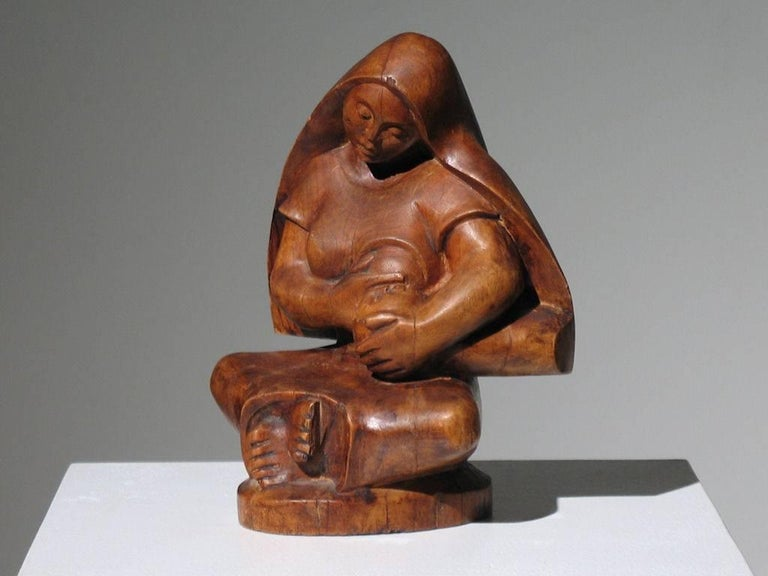 Mexican Modernist Madonna and Child For Sale 1