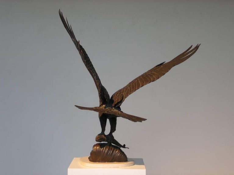 The Hunter - Gold Figurative Sculpture by Jenne Stahl