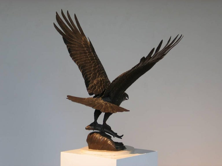 Jenne Stahl The Hunter 8/38 Bronze 36 x 34 x 20 inches
