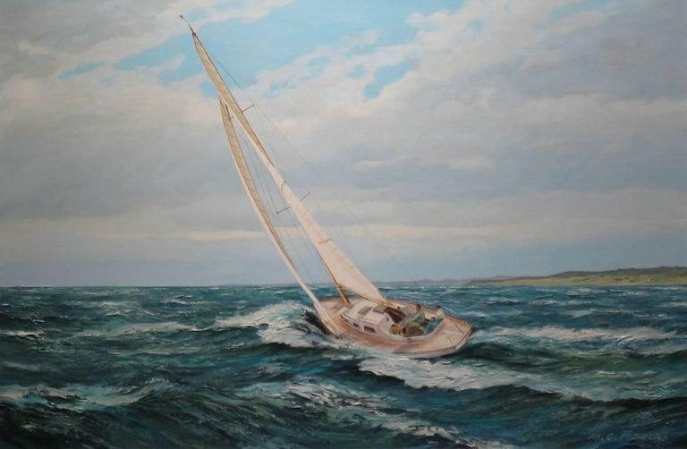 M.G. Friedrich Figurative Painting - Sailing