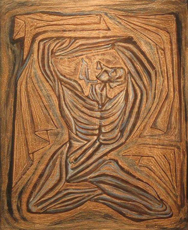 Jose Maria de Servin Figurative Painting - Esclavo