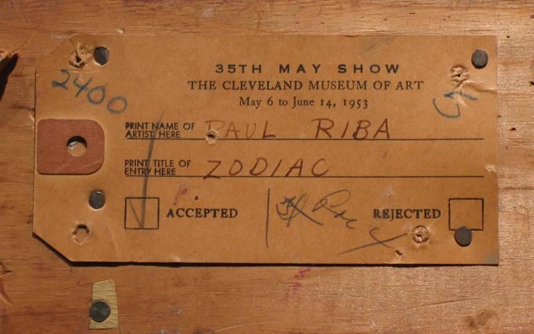 Zodiac - Brown Still-Life Painting by Paul Riba