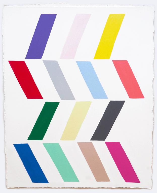 Jessica Snow Abstract Painting - 14 Parallelograms