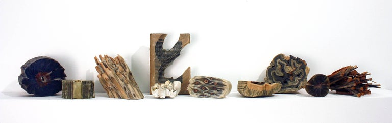 Reading Our Remains : Carved Tubes - Sculpture by Jessica Drenk