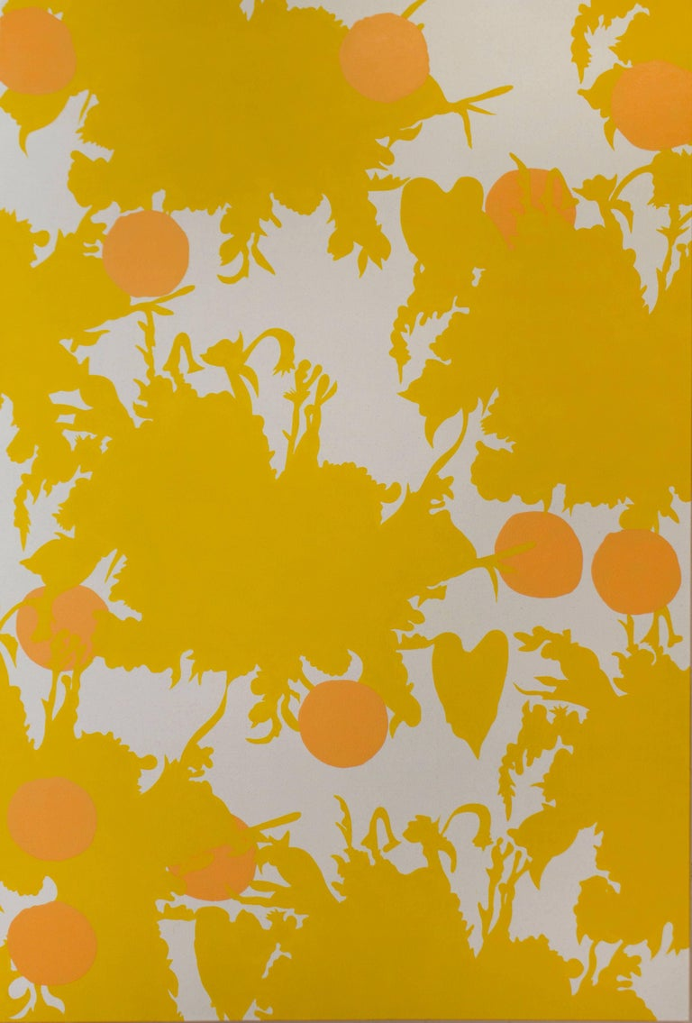 Wallpaper Series - Yellow Flower Print, 2017