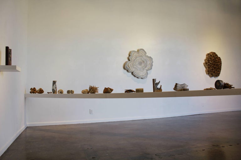 Reading Our Remains : Carved Tubes - Gray Abstract Sculpture by Jessica Drenk