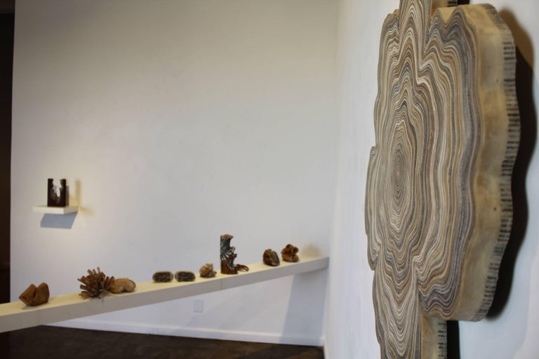 Circulation 5 - Brown Abstract Sculpture by Jessica Drenk