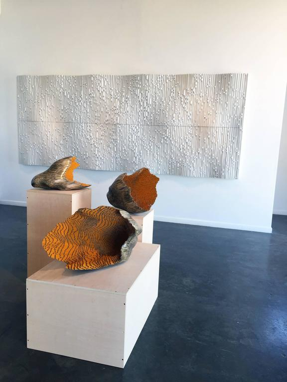 Growing Wave - Brown Abstract Sculpture by Jessica Drenk