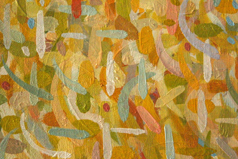 Abstraction in Yellows - Painting by Stuart Bigley