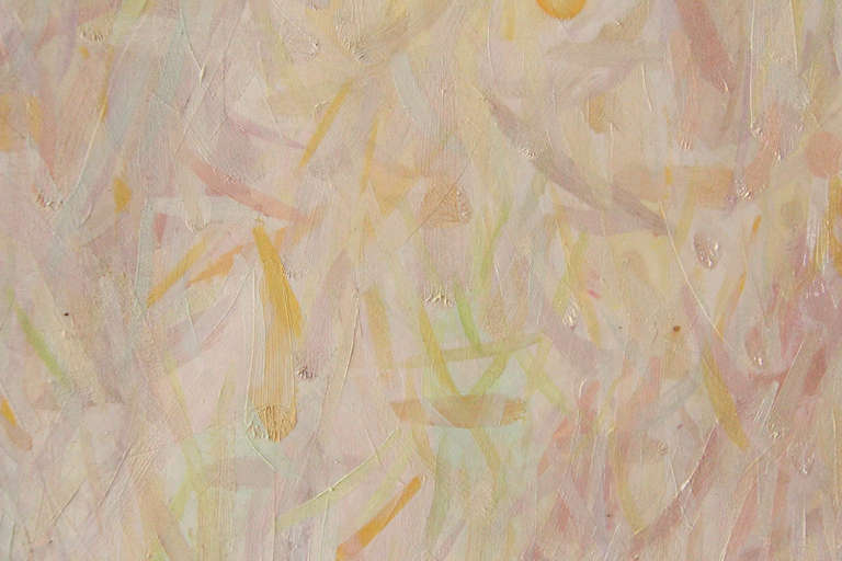 Abstraction - Beige Abstract Painting by Stuart Bigley