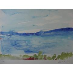 Zao Wou-Ki - Ibiza - The Sea - Signed Litograph
