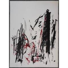 Joan Mitchell - The Trees in Red - Original Lithography