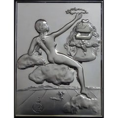 Homage to Philosophy - silver bas relief