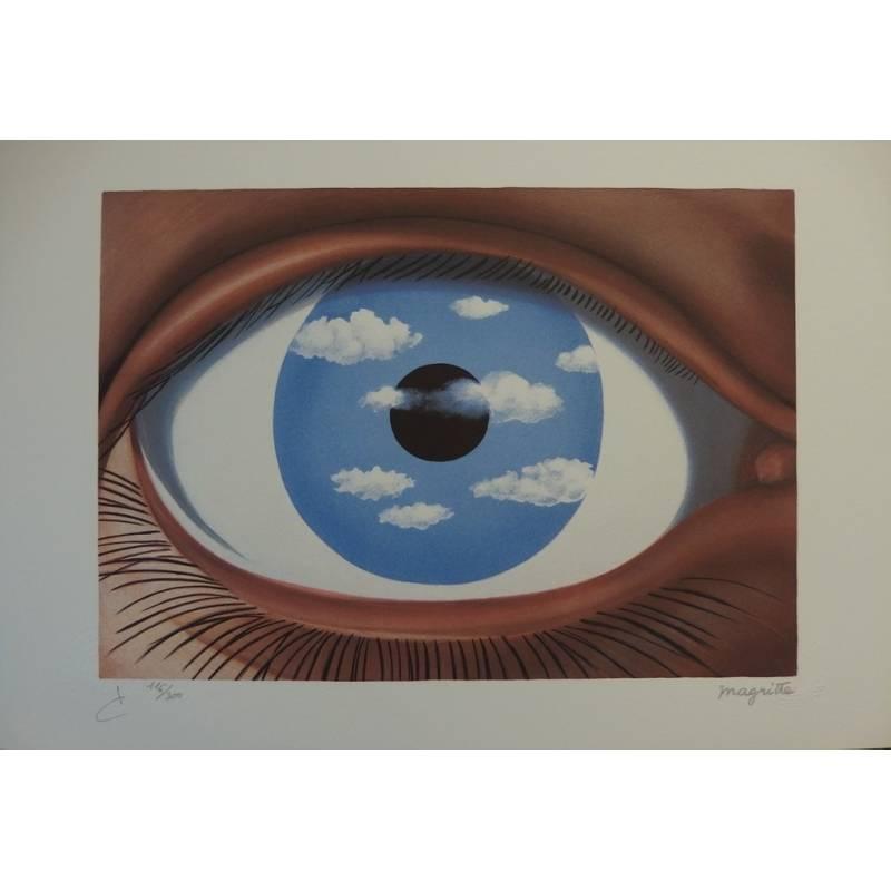 Ren magritte ren magritte lithograph le faux miroir for Magritte le faux miroir