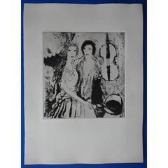 Marie Laurencin - Jeunes filles au violoncelle - Original Etching