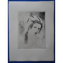 Marie Laurencin - Jeanne - Original Etching