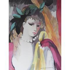 Marie Laurencin - Le collier de perles - Original Lithograph