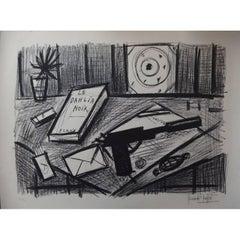 Bernard Buffet - The Black Dahlia - Original Signed Lithograph