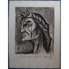 Bernard Buffet - Dante - Original Signed Lithograph