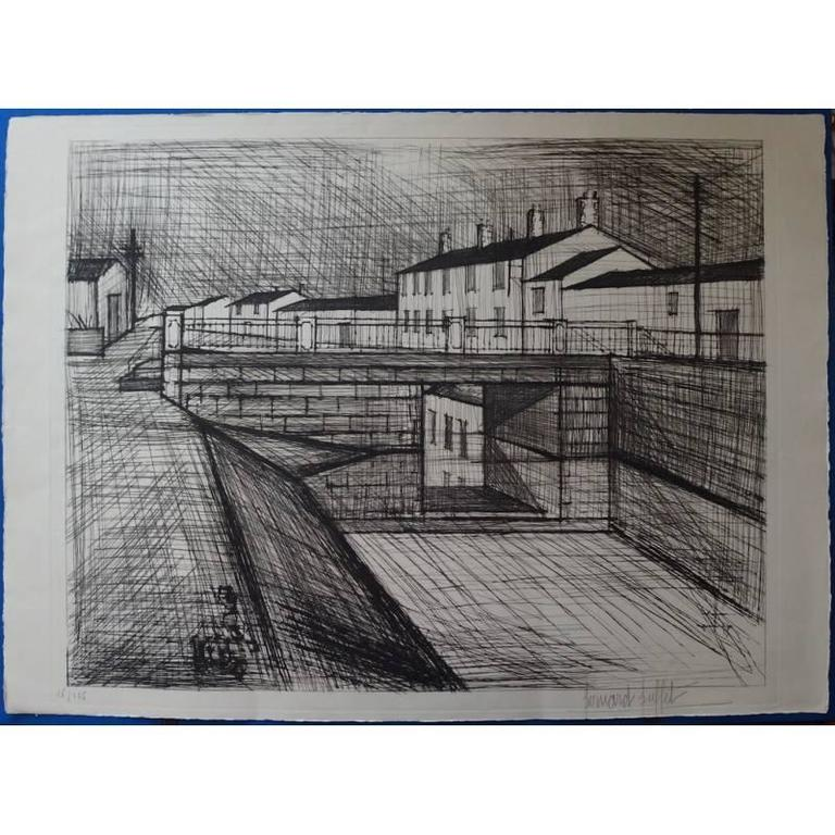Bernard Buffet - L'Enfer - Le Canal - Original Signed Lithograph