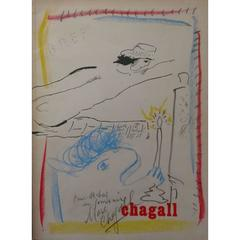 Marc Chagall - Marc Chagall - Catalogue With Signed Original Drawing